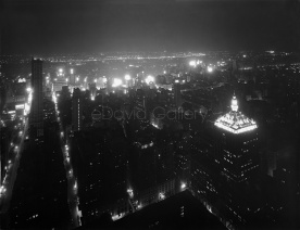 NYC From Chrysler Building at Night 1929