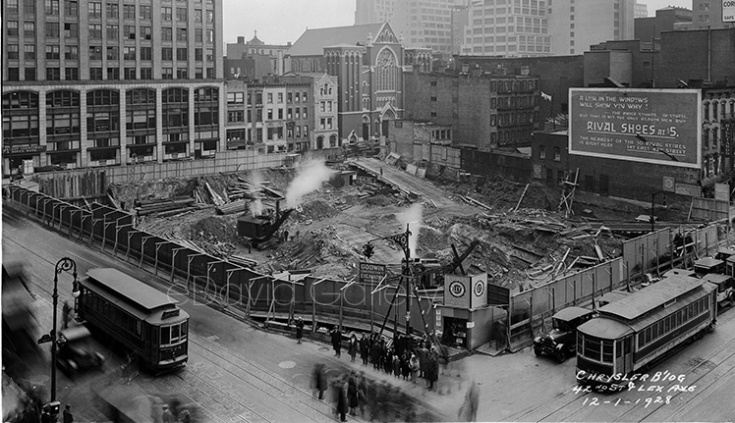 Chrysler Building Excavation 12/1/1928